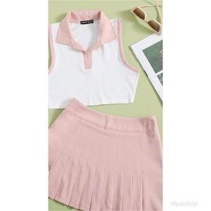 Two piece tennis skirt set